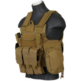 Lancer Tactical Airsoft Tactical Strike Plate Carrier LRG - TAN