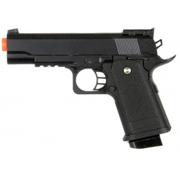 UK Arms Airsoft Full Size Metal Spring Powered Pistol - BLACK
