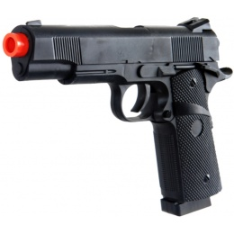UK Arms Airsoft Full Size Spring Powered 1911 Pistol - BLACK