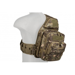 Lancer Tactical Airsoft Messager Bag w/ Buckle Strap - CAMO TROPIC