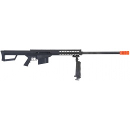 Lancer Tactical Airsoft M107 Spring Rifle w/ Bipod - BLACK