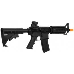 Lancer Tactical Airsoft M4A1 CQB Gas Rifle Blowback RIS - BLACK