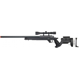 Well Airsoft Bolt Action L96 Rifle w/ Scope - BLACK