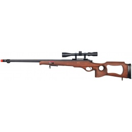 Well Airsoft Bolt Action L96 Rifle w/ Fluted Barrel Scope - WOOD