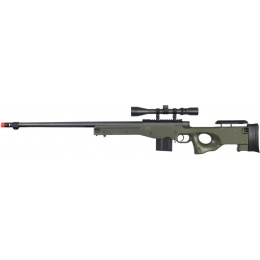 Well Airsoft L96 AWP Bolt Action Rifle Fluted Barrel Bipod - OD GREEN