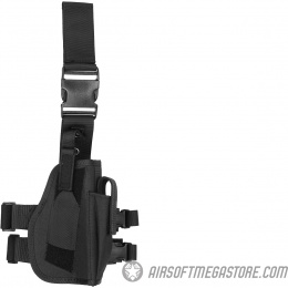 Lancer Tactical Airsoft Drop Leg Polyester Pistol Holster - BLACK