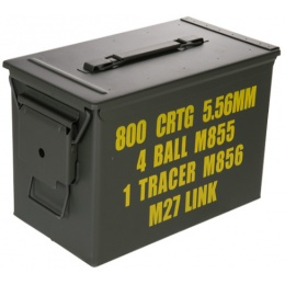 Lancer Tactical Airsoft Tactical Metal Ammunition Can - LARGE - OD