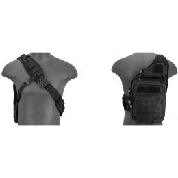 Lancer Tactical Airsoft Tactical QR Messenger Bag - BLACK