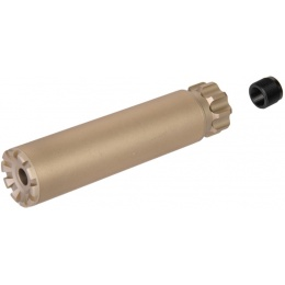 UK Arms Airsoft Specter Mock Suppressor F35x152mm - DARK EARTH