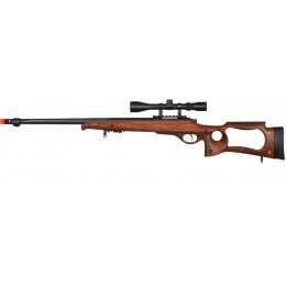 UK Arms Airsoft M70WA Bolt Action Scope Rifle w/ Fluted Barrel - WOOD