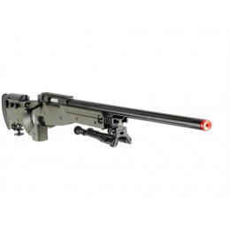UK Arms Airsoft L96 AWP Bolt Action Rifle Fold Stock Bipod - OD GREEN