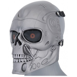 UK Arms Airsoft Full Face Shock Resistant Terminator Mask - SILVER