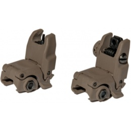 UK Arms Airsoft NBUS GEN 2 Back-Up Sight Set - DARK EARTH
