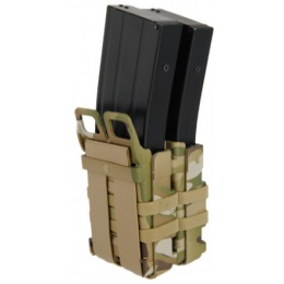 UK Arms Airsoft Quick Double M4 Magazine Pouch - MODERN CAMO