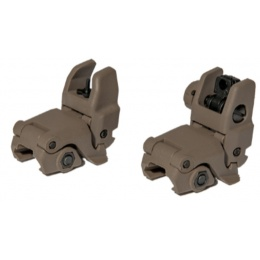 UK Arms Airsoft NBUS GEN 1 Back-Up Sight Set - DARK EARTH