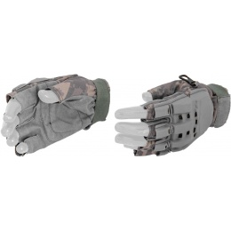 UK Arms Airsoft Half Finger Paintball Gloves - MEDIUM - ACU