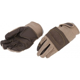 UK Arms Airsoft Tactical Hard Knuckle Gloves - MEDIUM - TAN