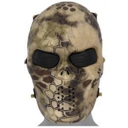 UK Arms Airsoft Full Face Metal Mesh Villain Mask - HLD CAMO