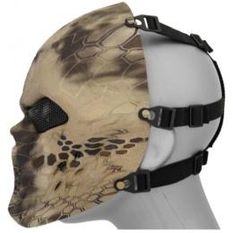 UK Arms Airsoft Full Face Metal Mesh Villain Mask - HLD CAMO