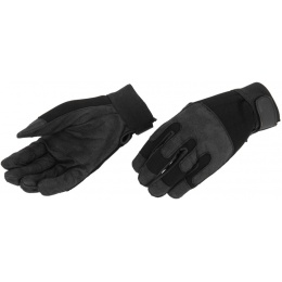 Airsoft Megastore Armory Tactical Combat Gloves - BLACK