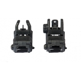 UK Arms Airsoft Tactical NBUS GEN 2 Back-Up Sight Set - BLACK