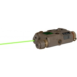 UK Arms Airsoft White Light and Green Laser PEQ-15 L.E.D. - TAN