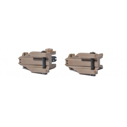 UK Arms Airsoft NBUS GEN 1 Flip Back-Up Sights - DARK EARTH