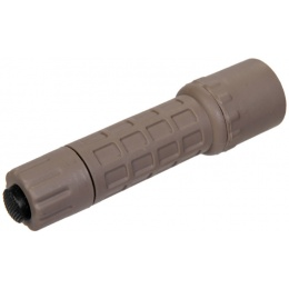 UK Arms Airsoft F2 CREE Q4 Fiber Polymer Flashlight - DARK EARTH