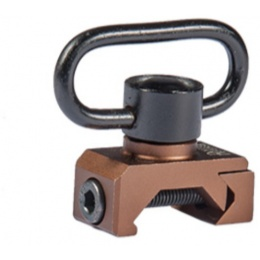 UK Arms Airsoft RIS Quick Detach Swing Swivel - DARK EARTH