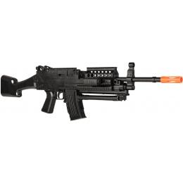 UK Arms Airsoft Spring Bipod Laser Flashlight Rifle Set - BLACK