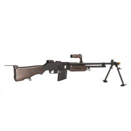Lancer Tactical Full Size BAR 1918 Airsoft AEG Machine Gun - WOOD