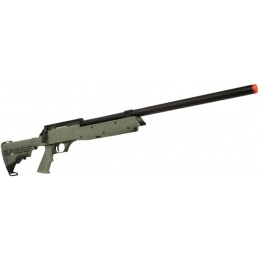 UK Arms Airsoft SR-2 Modular Bolt Action Sniper Rifle - OD GREEN