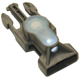 FMA MIL-SPEC Side Release Buckle Strobe Light - WHITE LED - GREEN