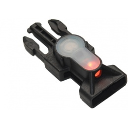 FMA MIL-SPEC Side Release Buckle Strobe Light - ORANGE LED - BLACK