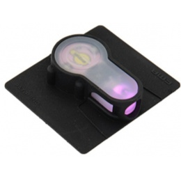 FMA Airsoft S-Light Hook Base PINK LED Strobe Light - BLACK