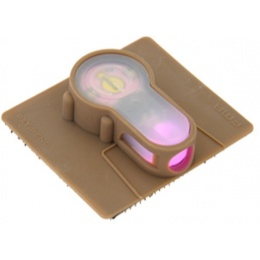 FMA Airsoft S-Light Hook Base PINK LED Strobe Light - DARK EARTH