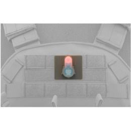 FMA Airsoft S-Light Hook Base PINK LED Strobe Light - DARK EARTH