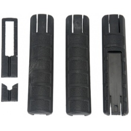UK Arms Airsoft Pressure Switch Rail Cover Set - BLACK
