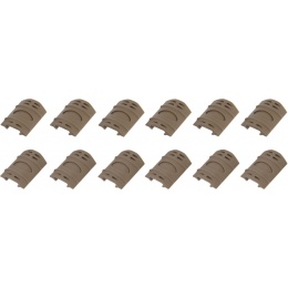 UK Arms Airsoft Tactical 12pc Rubber Rail Cover Set - TAN