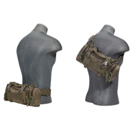 UK Arms Airsoft Tactical QR Combat Butt Pack - OD GREEN