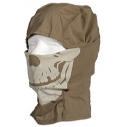 UK Arms Airsoft Glow Skull Balaclava Short Face Mask - OD GREEN