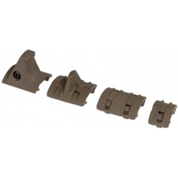 UK Arms Airsoft Tactical Hand Stop Rail Kit - DARK EARTH