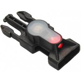 UK Arms Airsoft Tactical Red LED Strobe Light Buckle - BLACK