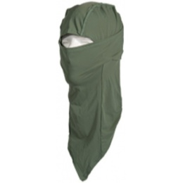 UK Arms Airsoft Tactical Balaclava Long Face Mask - OD GREEN