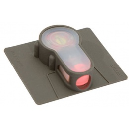 UK Arms Airsoft Hook-n-Loop Base Red LED Strobe Light - FOLIAGE GREEN