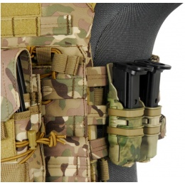 UK Arms Airsoft Tactical 1X Rifle/2X Pistol Mag Pouch - DESERT DIGITAL
