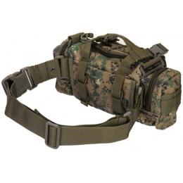 UK Arms Airsoft Tactical QR Combat Butt Pack - WOODLAND DIGITAL