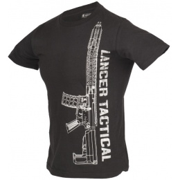 Lancer Tactical Men's M4 Airsoft Short Sleeve T-Shirt - BLACK/SILVER