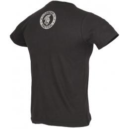 Lancer Tactical Men's M4 Airsoft Short Sleeve T-Shirt - BLACK/SILVER