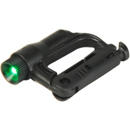 FMA Airsoft Tactical D-Buckle - GREEN LED Light - BLACK
